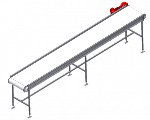 Custom Metalcraft flat horizontal belt conveyor