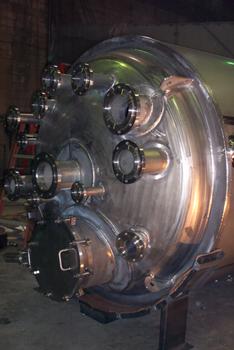 Custom Metalcraft ASME pressure vessel made from stainless steel