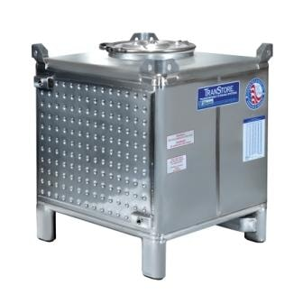 Transtore IBC wine tank with heat transfer